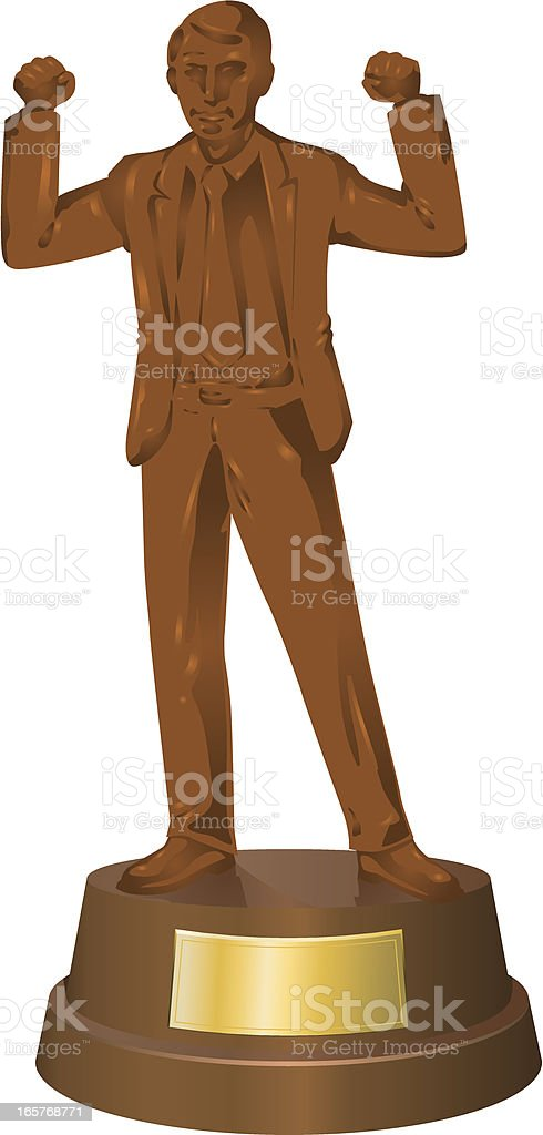 Figure of businessman in bronze - success royalty-free stock vector art