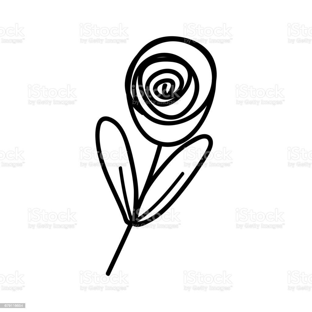 figure rose plant with leaves design figure rose plant with leaves design - arte vetorial de stock e mais imagens de arte royalty-free