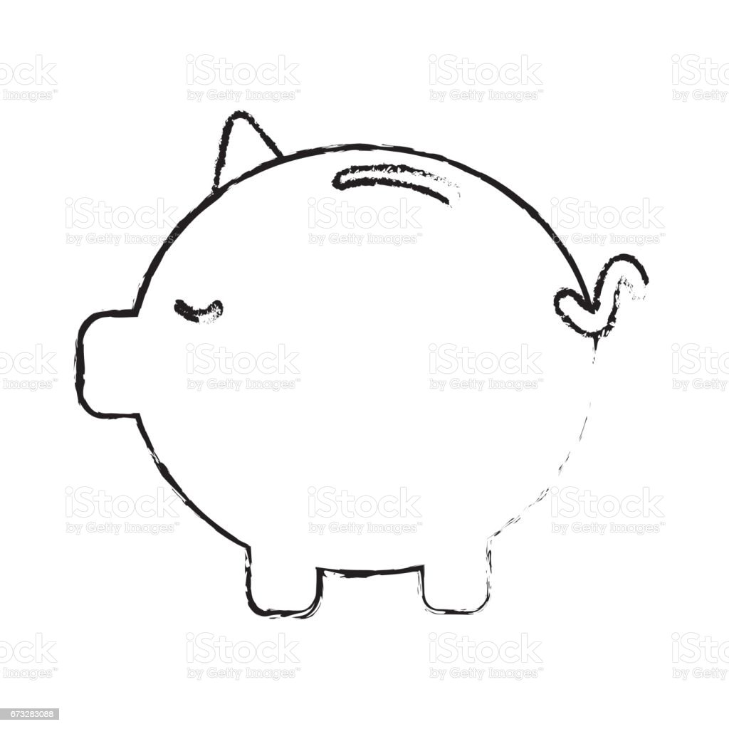 figure save money inside pig in the home royalty-free figure save money inside pig in the home stock vector art & more images of antiquities