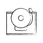 figure school bell alert object design