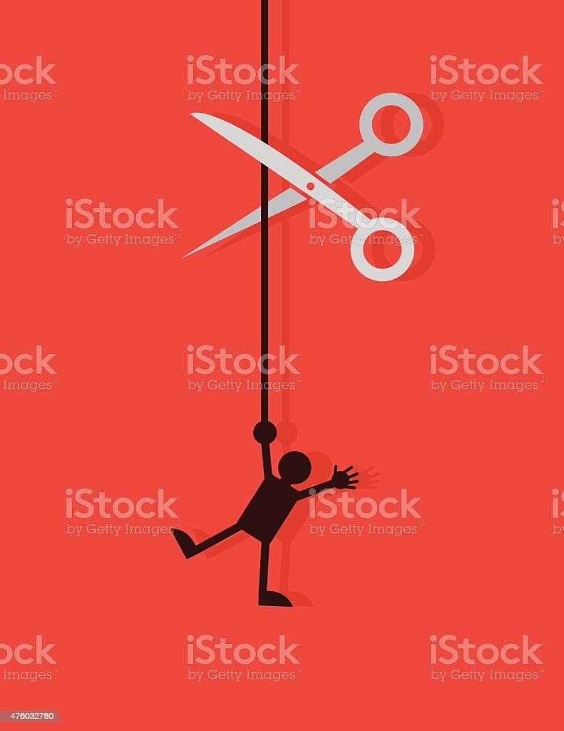 Figure String Cut vector art illustration