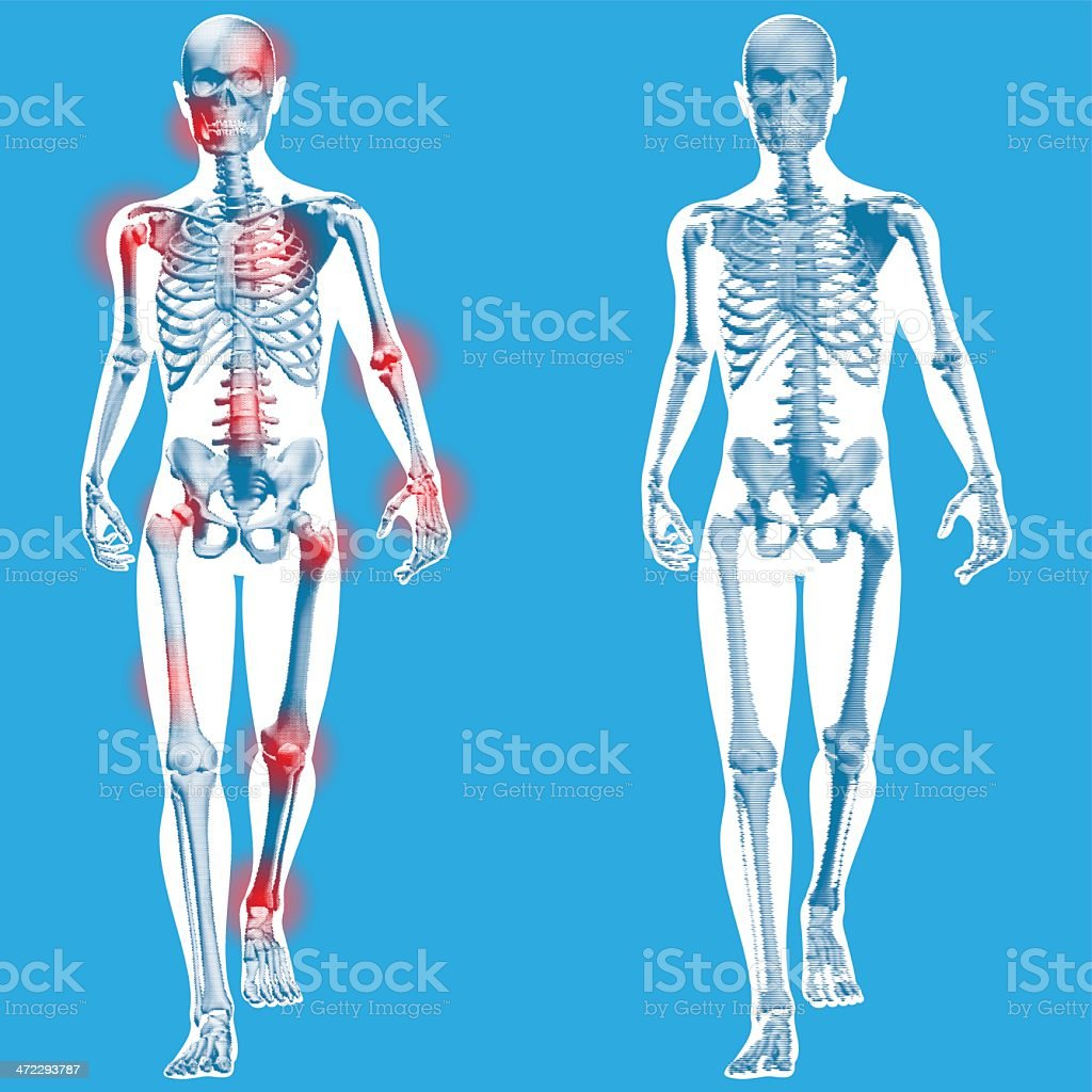 Figure Walking Front On View Stock Vector Art & More Images of ...