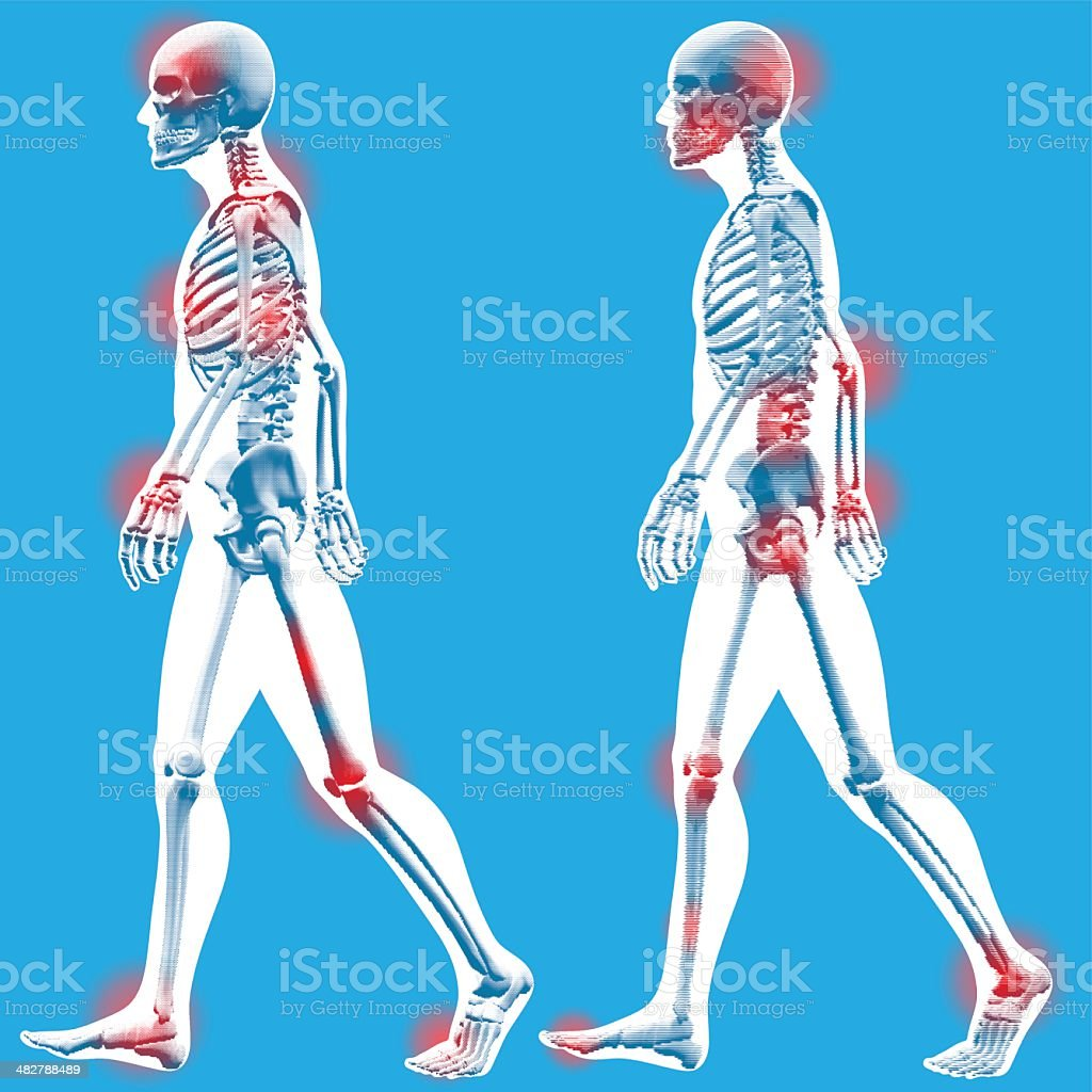 Figure walking - Side view royalty-free figure walking side view stock vector art & more images of anatomy