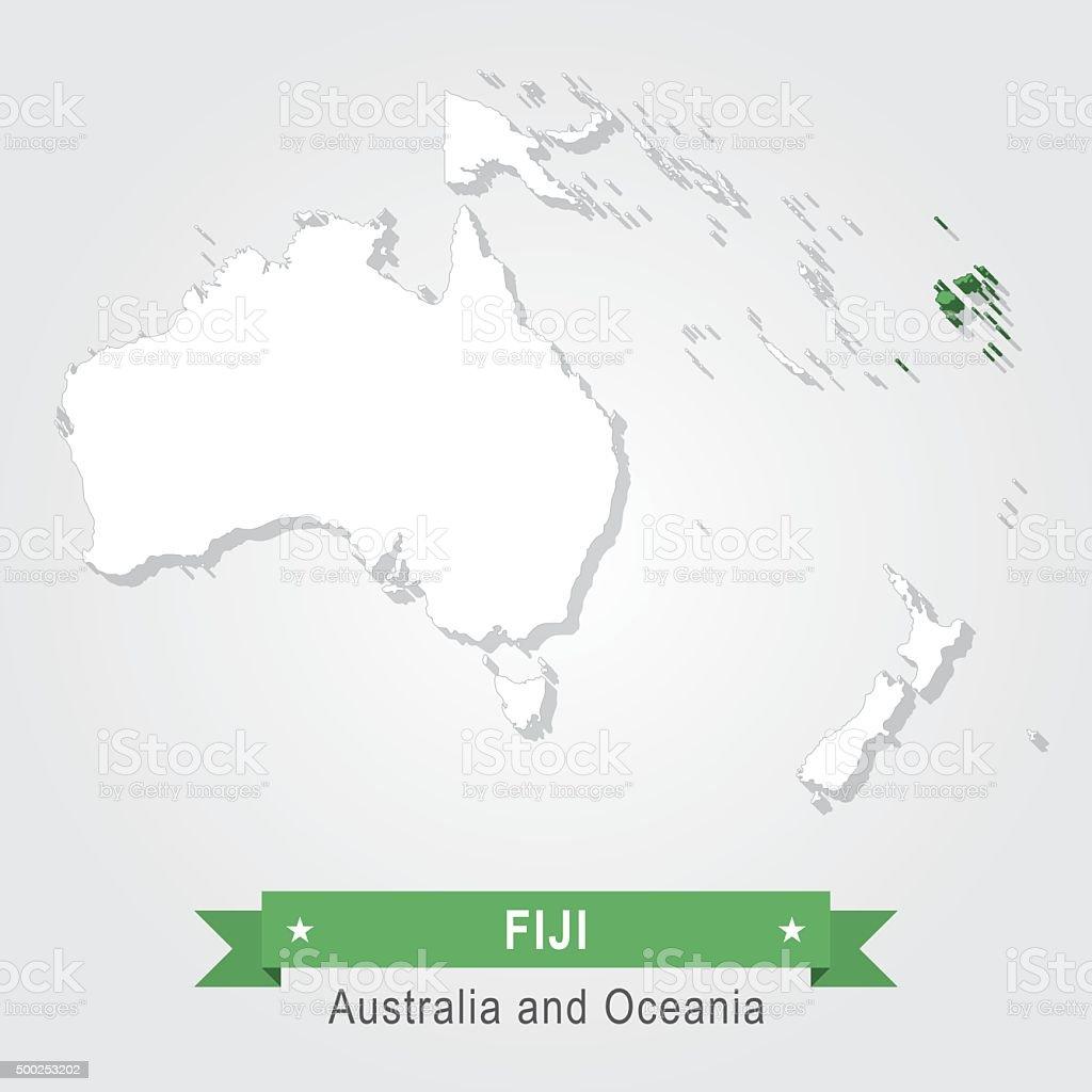 Carte Australie Et Iles Fidji.Iles Fidji Australie Et Oceanie Carte Vecteurs Libres De Droits Et
