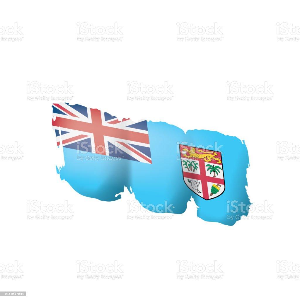 Fiji Flag Vector Illustration On A White Background Stock Illustration Download Image Now