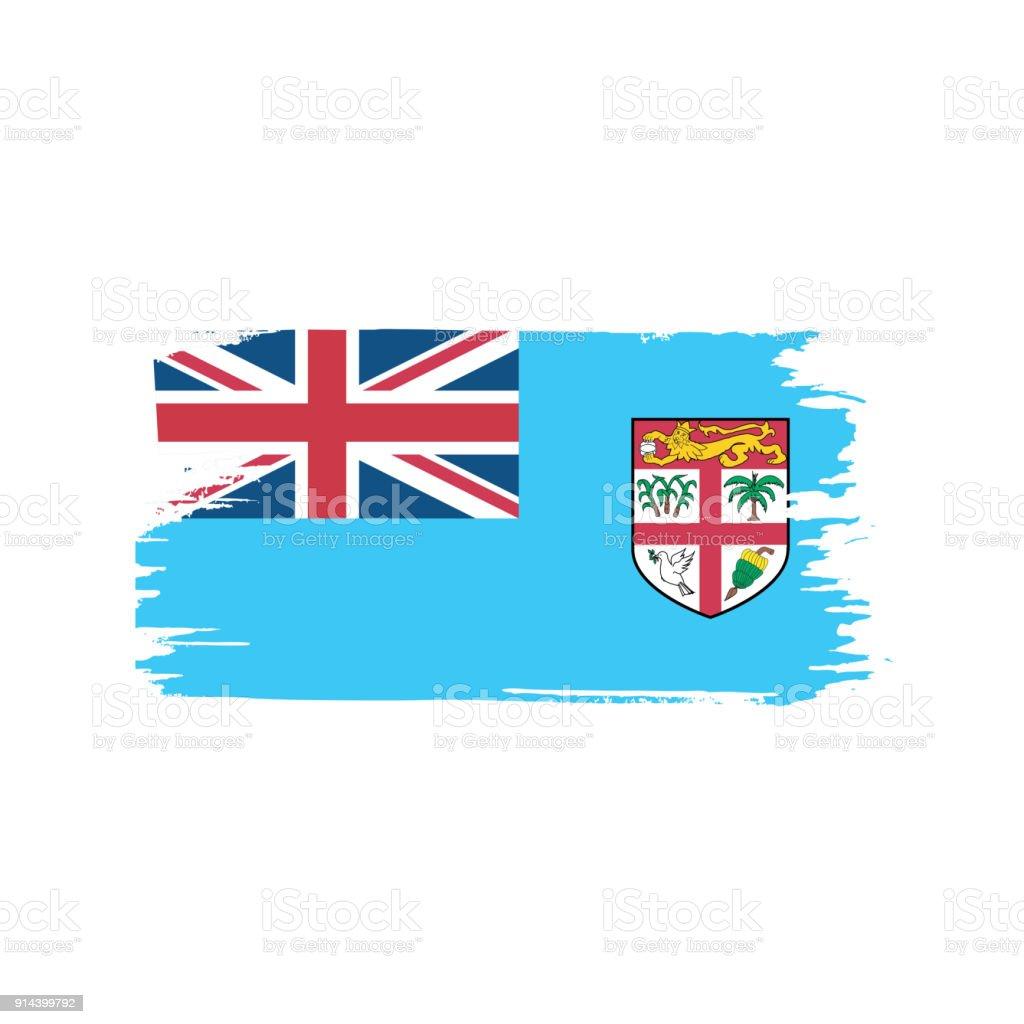 Fiji Flag Vector Illustration Stock Illustration Download