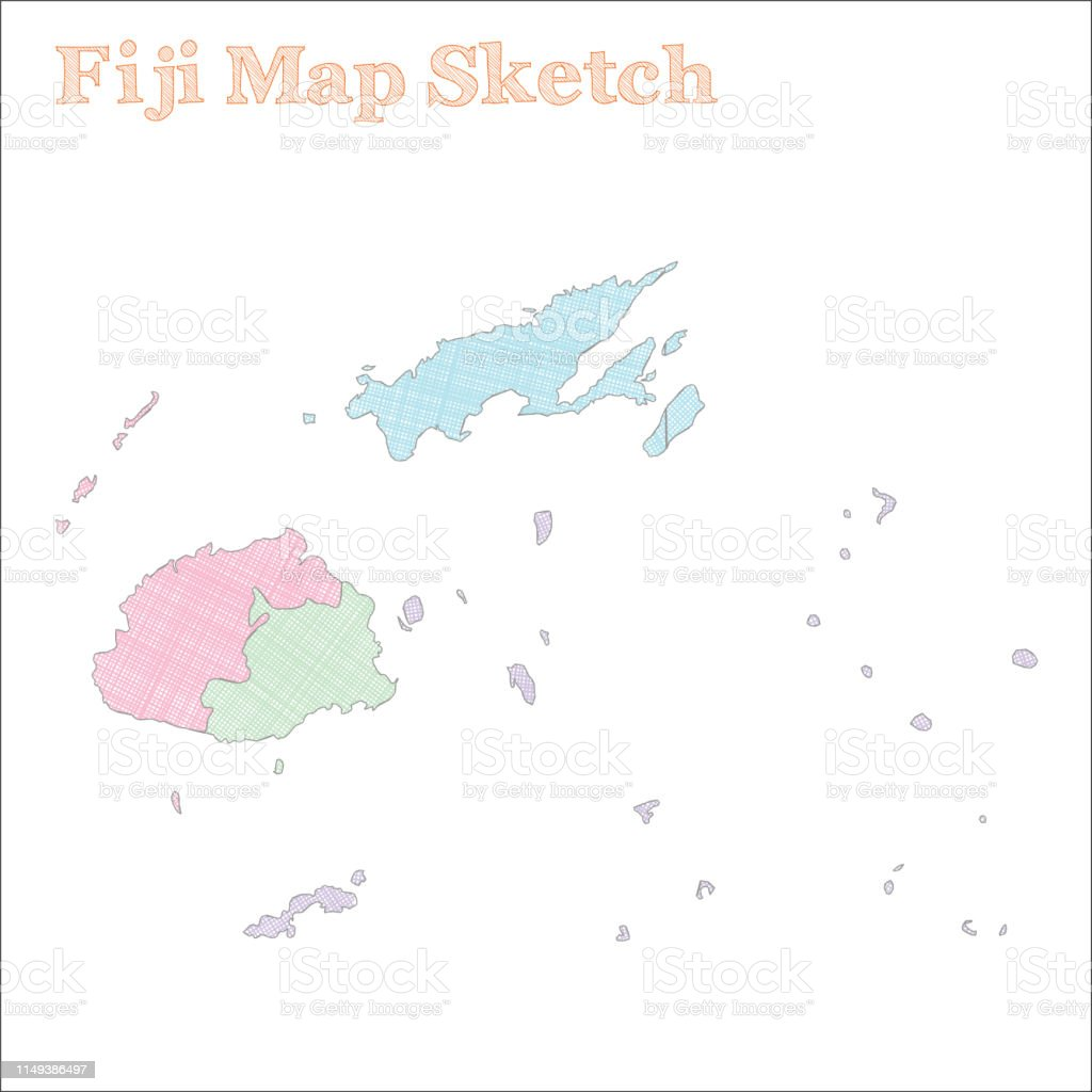Fiji Map Stock Illustration Download Image Now Istock