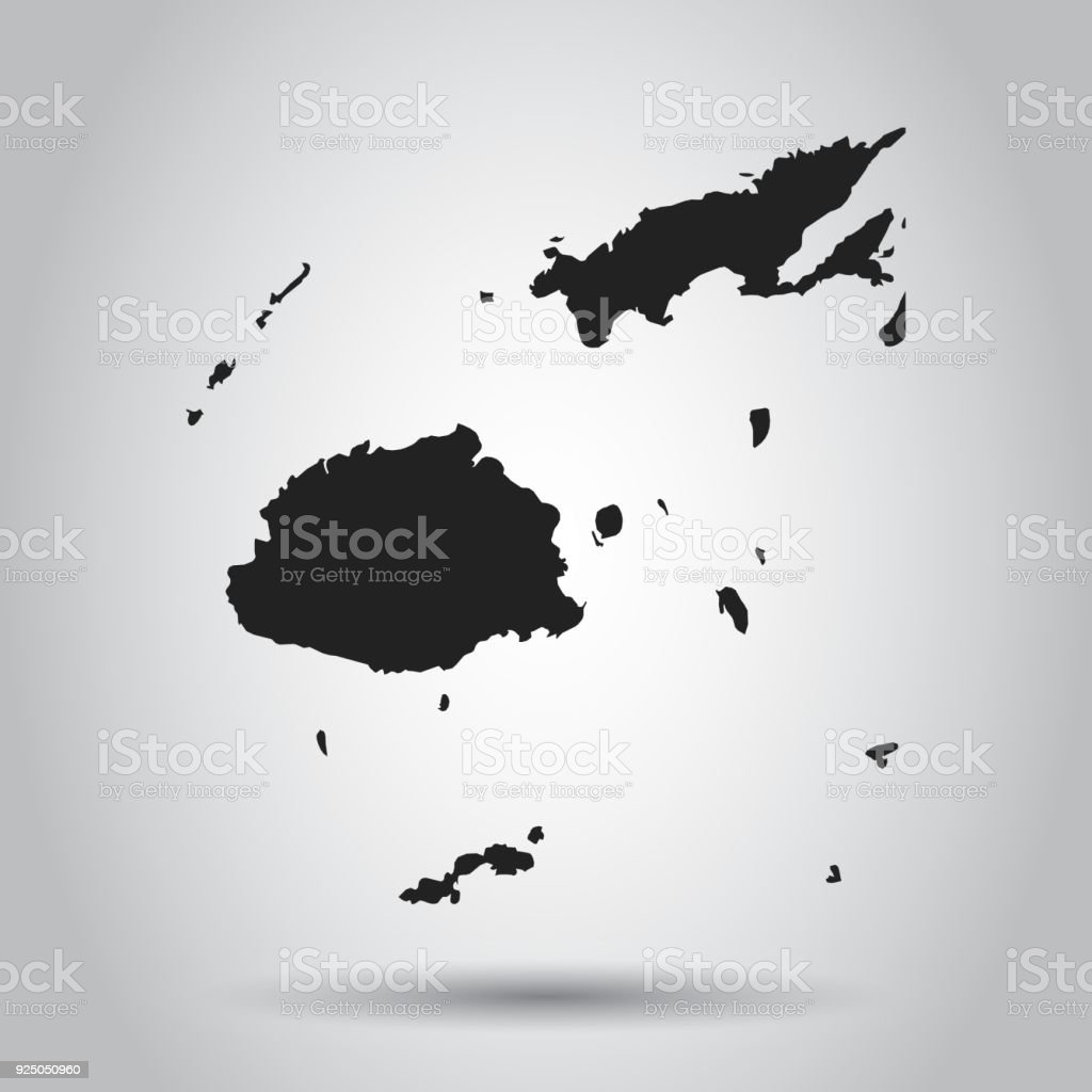 Fiji vector map black icon on white background stock vector art fiji vector map black icon on white background royalty free fiji vector map gumiabroncs Gallery