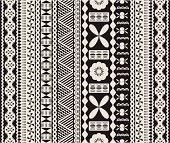 Seamless Fijian tapa pattern in two colors.