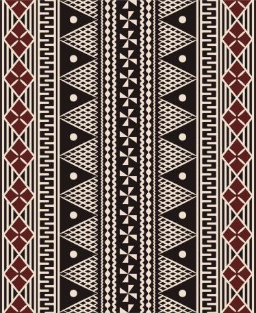 Fijian tapa pattern