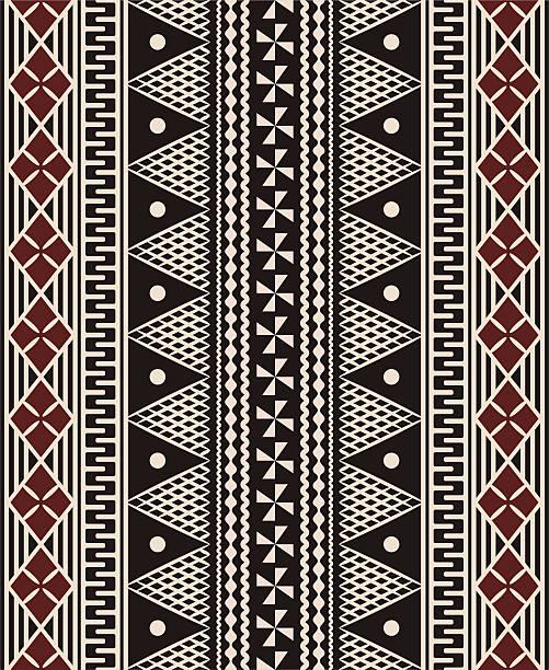 Fijian tapa pattern vector art illustration