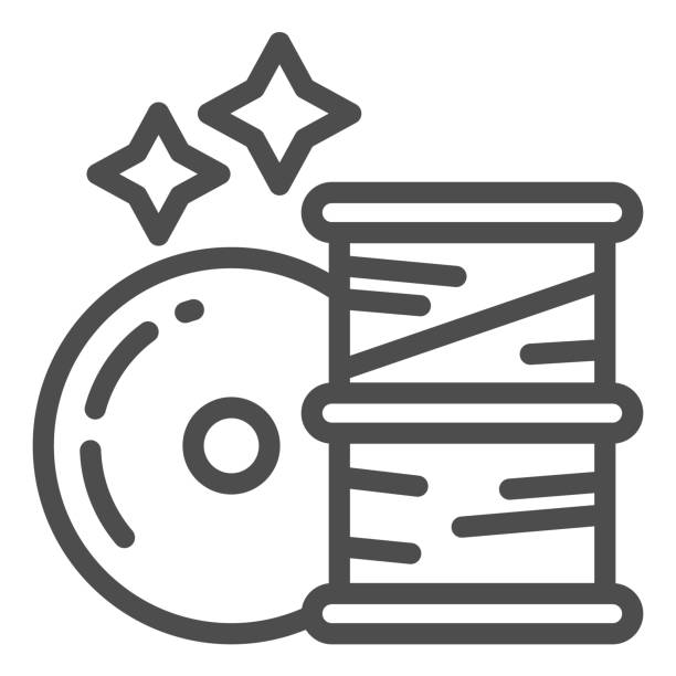 Filament for 3D printer line icon. 3d printer coils vector illustration isolated on white. Material for 3D printing outline style design, designed for web and app. Eps 10. Filament for 3D printer line icon. 3d printer coils vector illustration isolated on white. Material for 3D printing outline style design, designed for web and app. Eps 10 energy efficient lightbulb stock illustrations