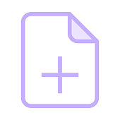 file add colour line vector icon