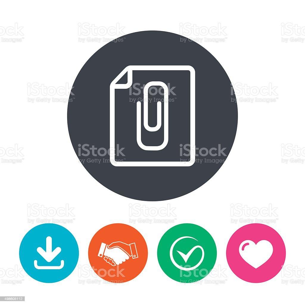 Annexe icône du fichier. Trombone symbole de - Illustration vectorielle