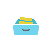 istock File Archive Icon Flat Design. 1269453791