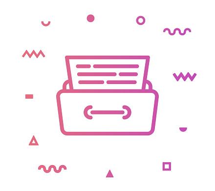 File Archive Line Style Icon Design
