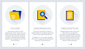File archives three steps banner illustration also contains icons for the topics.