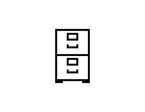 File Cabinet vector icon. Isolated Filing Cabinet, Office Drawer Furniture flat illustration symbol - Vector