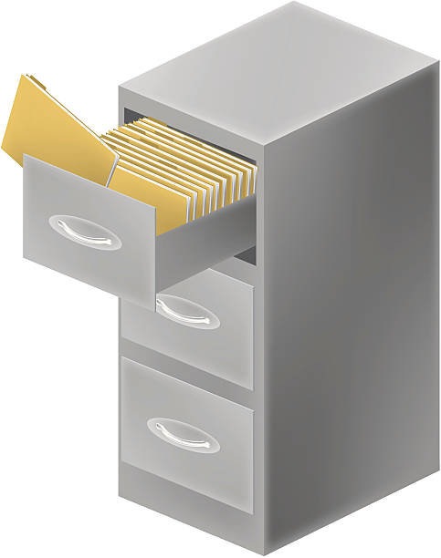 Filing Cabinet Clip Art, Vector Images & Illustrations ...