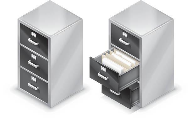 File cabinet vector art illustration