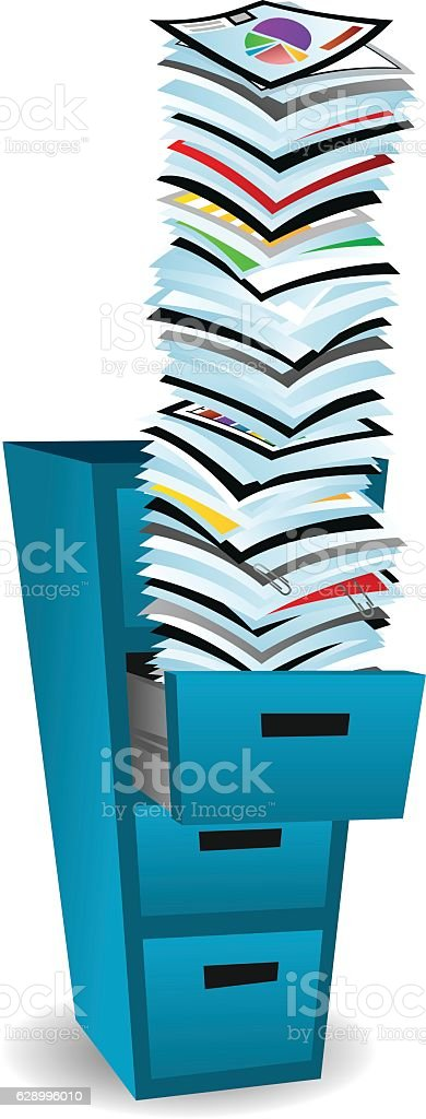 File Cabinet vector art illustration