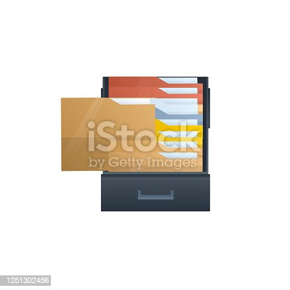 Search for document files, vector illustration