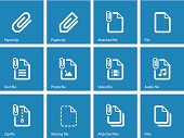 File Clip icons on blue background.