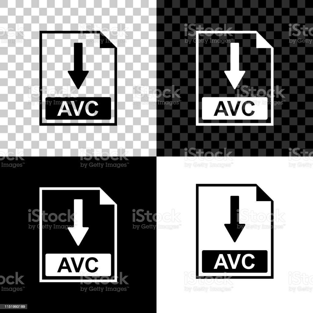 Avc File Document Icon Download Avc Button Icon Isolated On Black