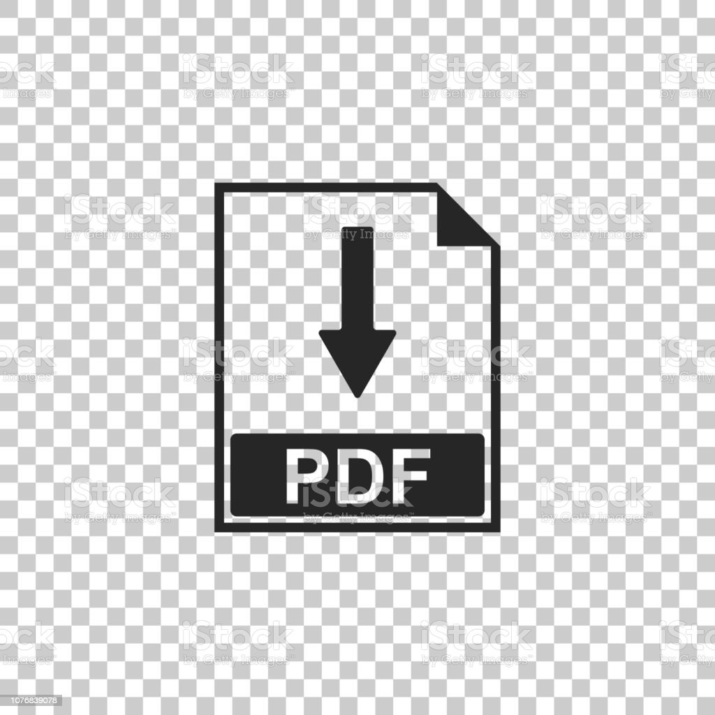 Pdf File Document Icon Isolated On Transparent Background Download