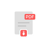 istock PDF File Download Icon Vector Design on White Background. 1269454066