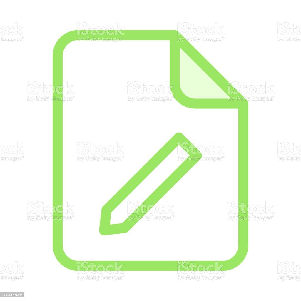 file edit colour line vector icon