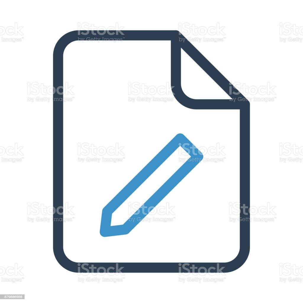 file edit thin colour line vector icon