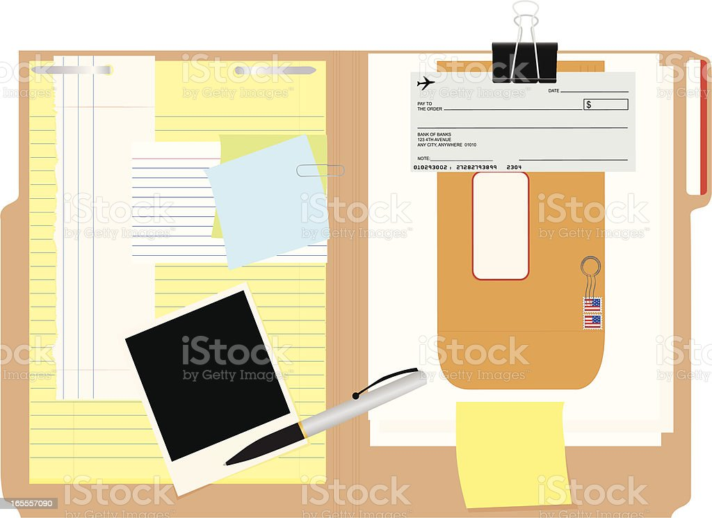 File Folder Etc. vector art illustration