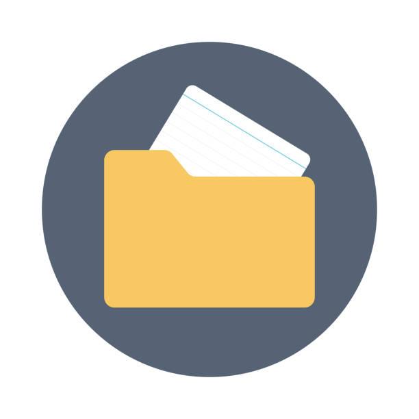 ordnersymbol flache vektor datei - folder stock-grafiken, -clipart, -cartoons und -symbole