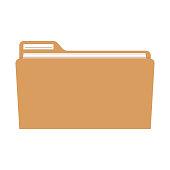 file folder icon image. Vector illustration EPS