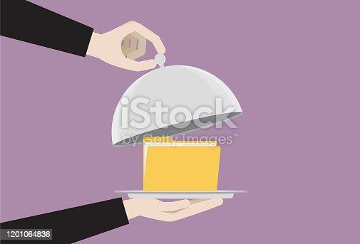 istock File folder in a food cloche 1201064836