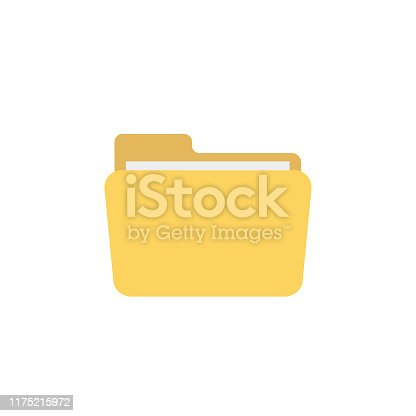file folder in flat style on white background