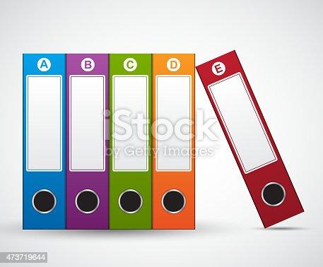 File Folder Infographic design template.
