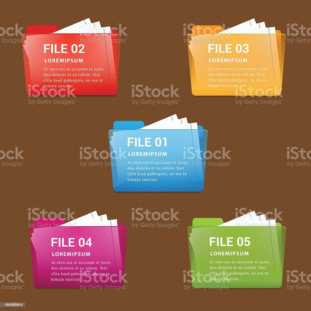 File folder infographic vector. vector art illustration