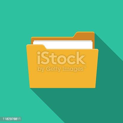 istock File Folder Office Supply Icon 1182976811