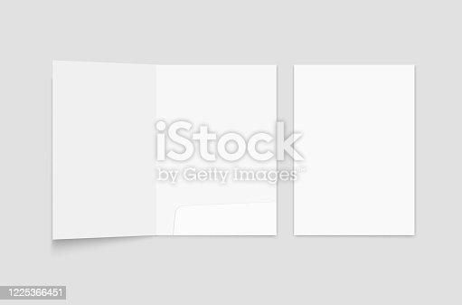 File folder mockup. Folder for paper format A 4