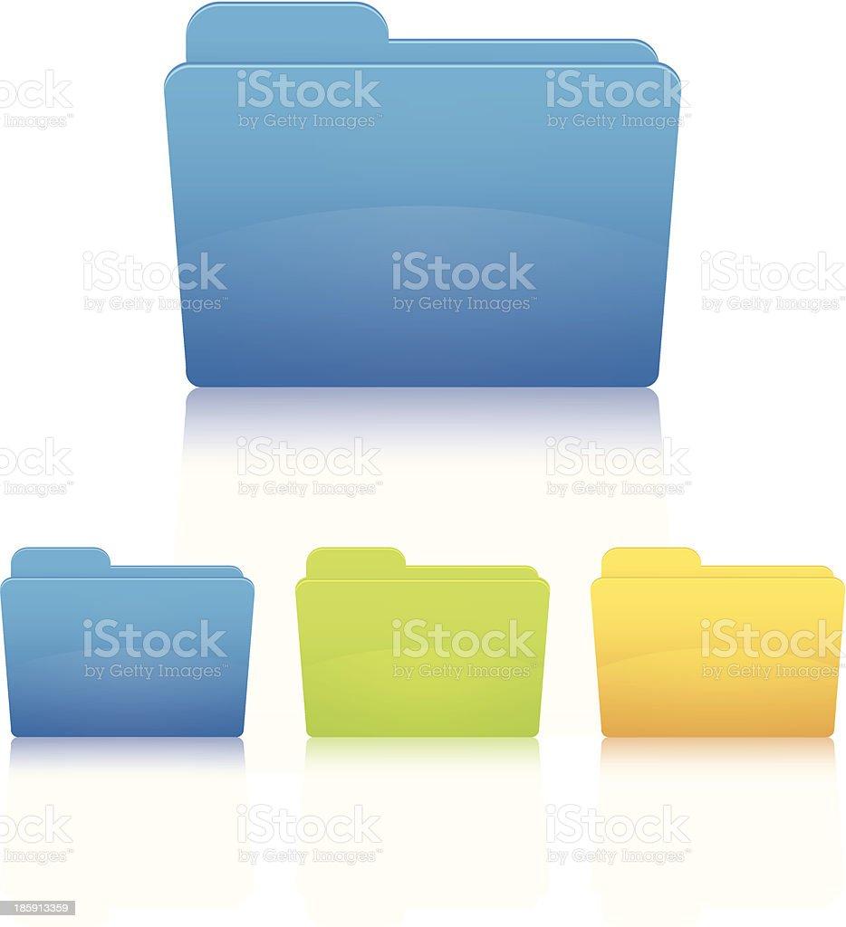File folder. vector art illustration