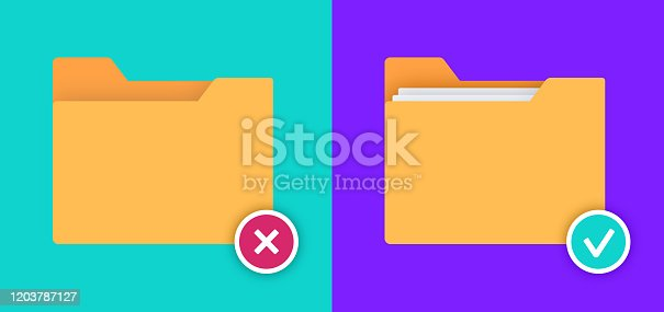 istock File Folders Empty and Full 1203787127