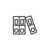File folders linear icon concept. File folders line vector sign, symbol, illustration.
