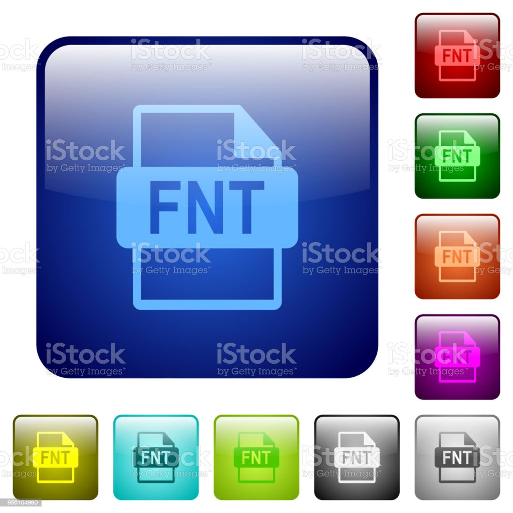 FNT file format color square buttons vector art illustration