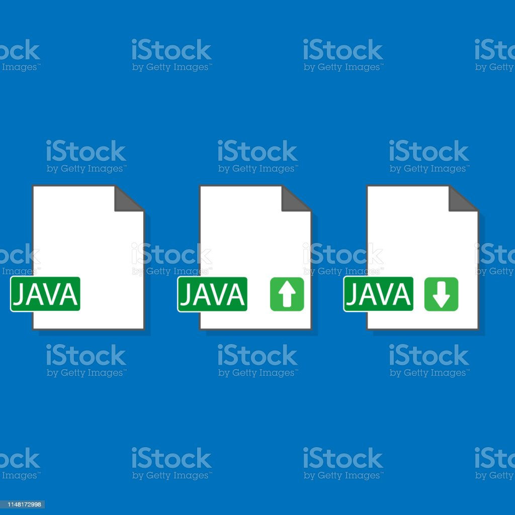Java File Format Extension Color Flat Icon Vector Illustration Stock
