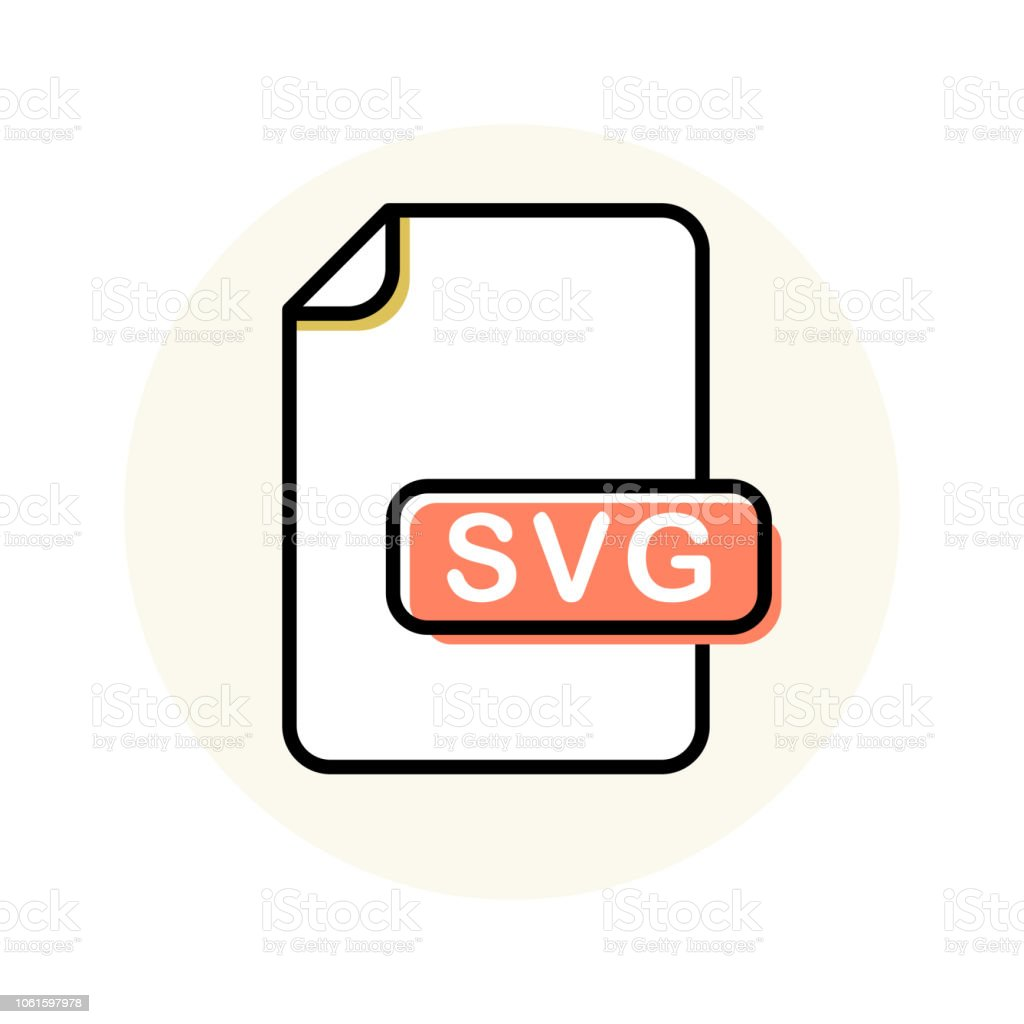 Svg File Format Extension Color Line Icon Stock Illustration Download Image Now Istock