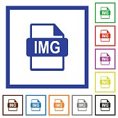 IMG file format flat framed icons