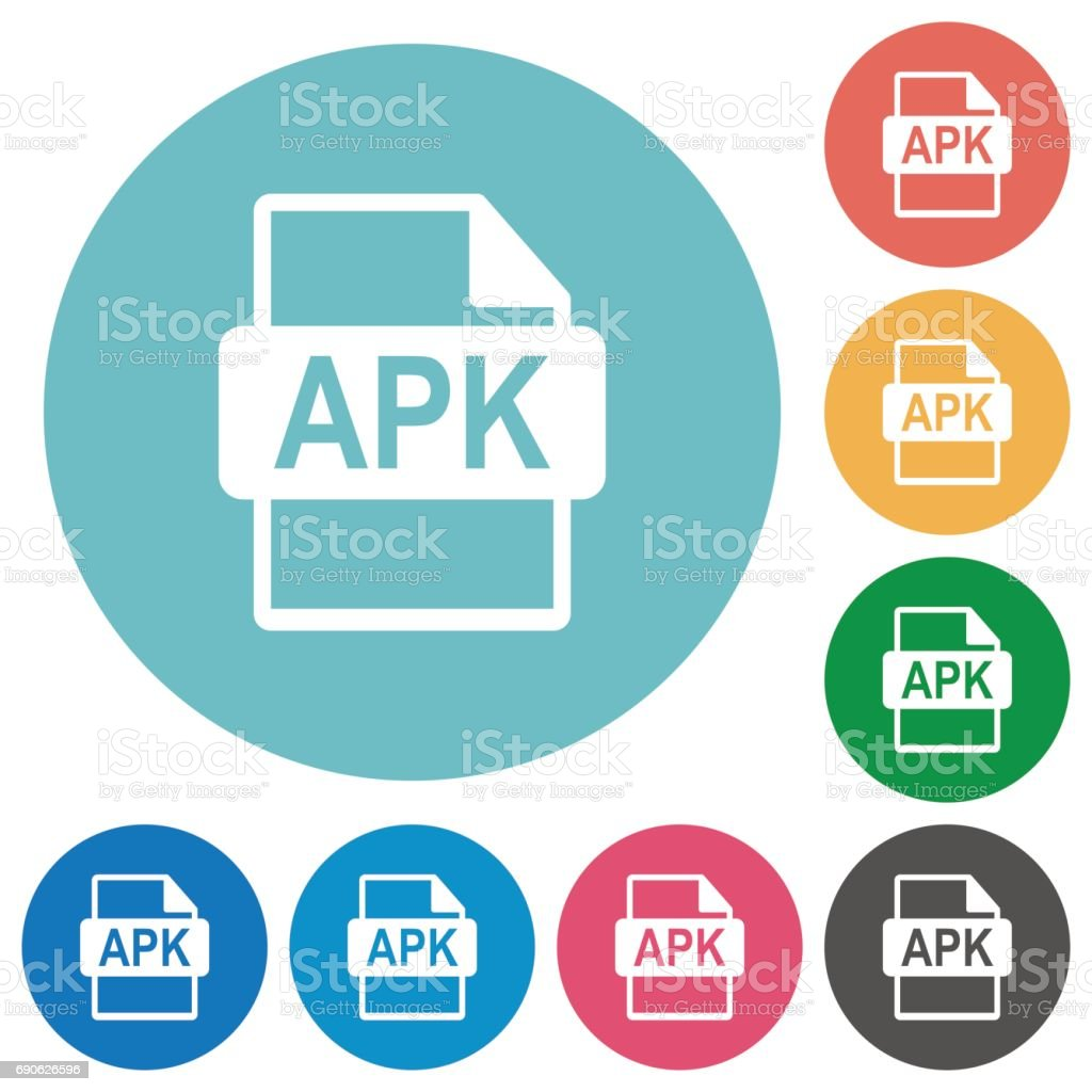 Apk File Format Flat Round Icons Stock Vector Art & More Images of