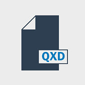 QXD file format Icon on gray background